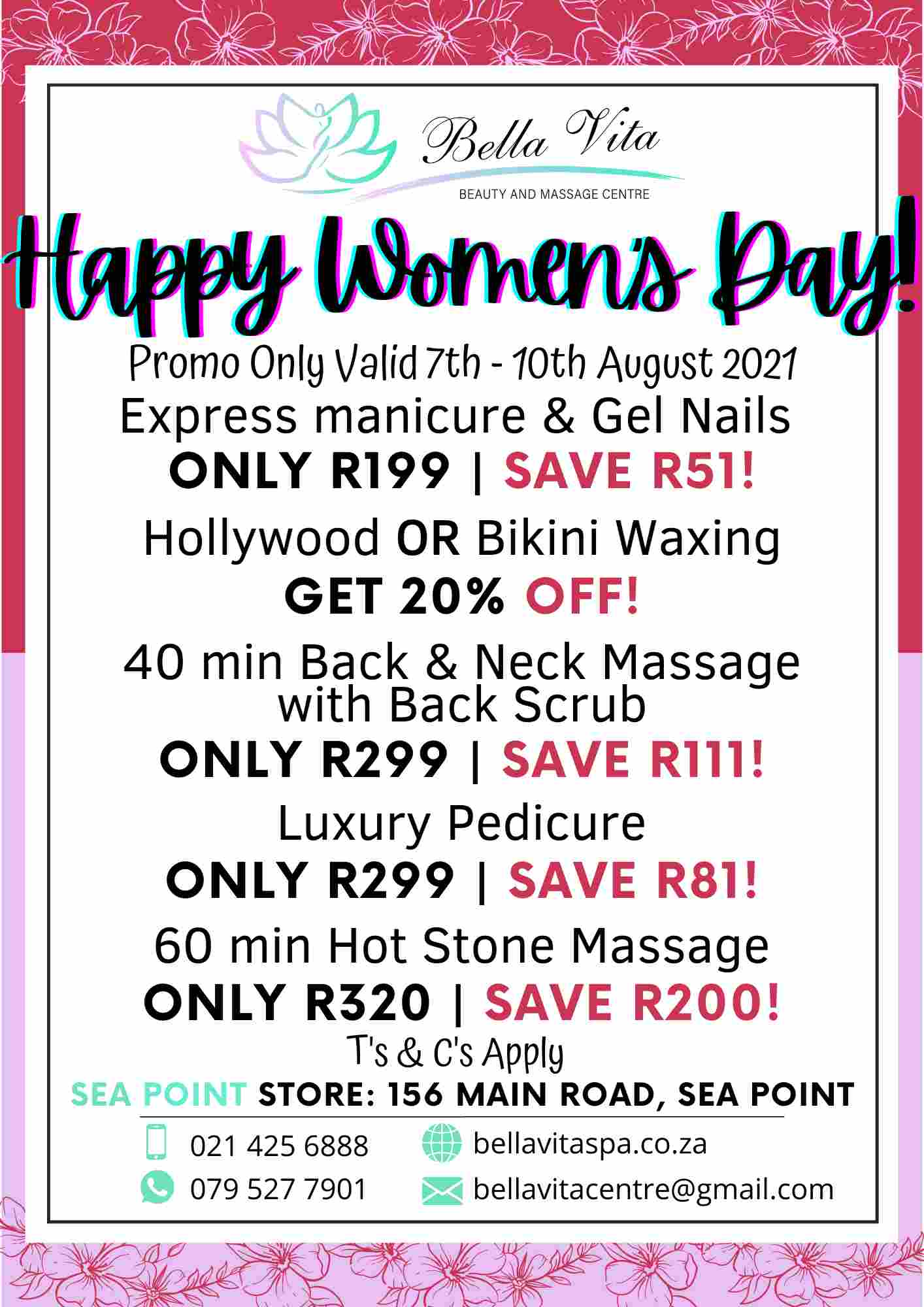 August promotion woman's month promo